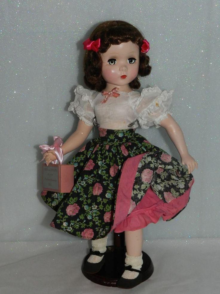 "Pretty Vintage Madame Alexander Dressed Maggie Walker Doll 17"" / 18"""