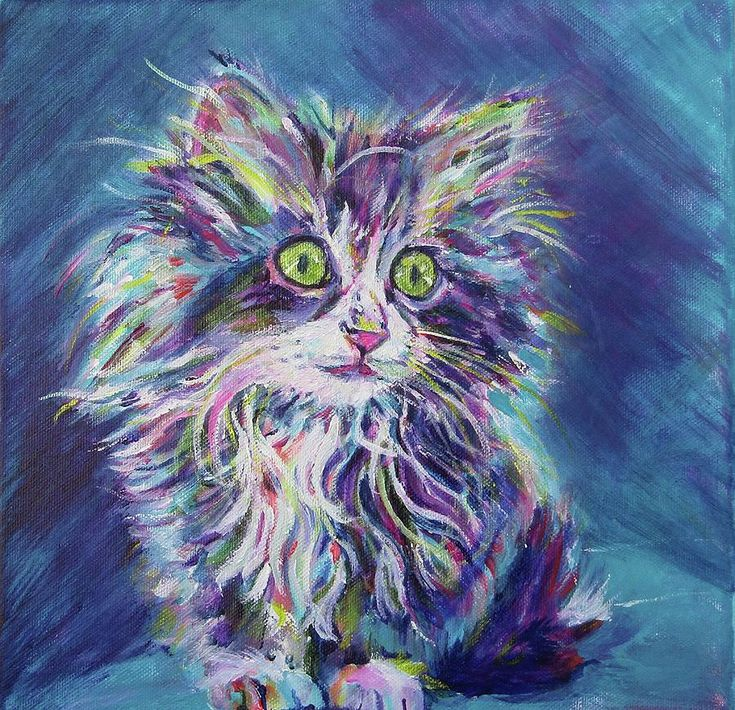 Kitten Painting 'Too Cute' Acrylic on Canvas by  Karin McCombe Jones (Original-Sold) prints avail ♥🌸♥
