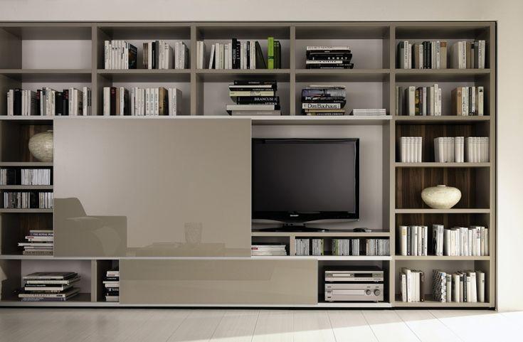 Bookcase Mega-design tv unit, Hulsta