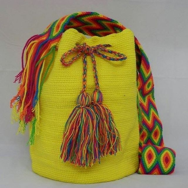 wayuustyle summer2016 wayuumochilabags summercolours yellowwayuu handmadewithlove beachbag wwwmoniquenl