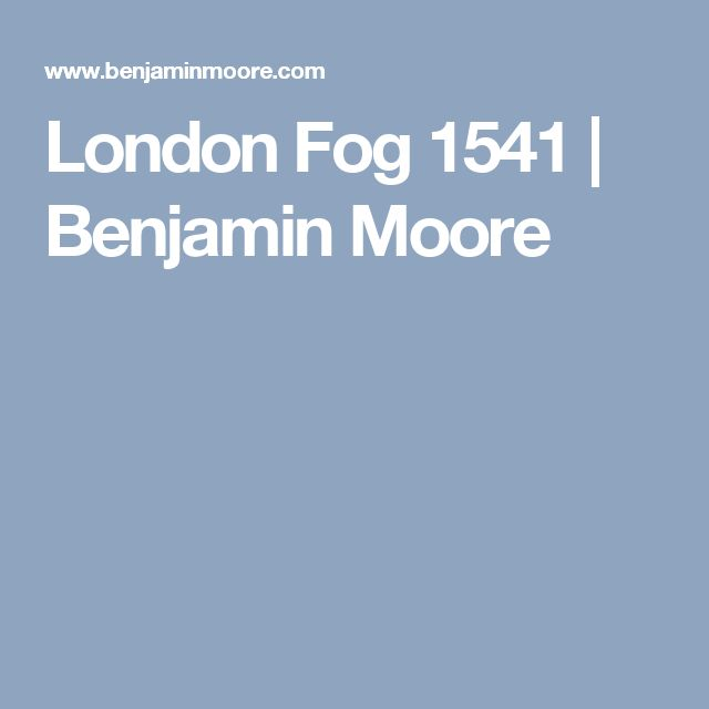 London Fog 1541