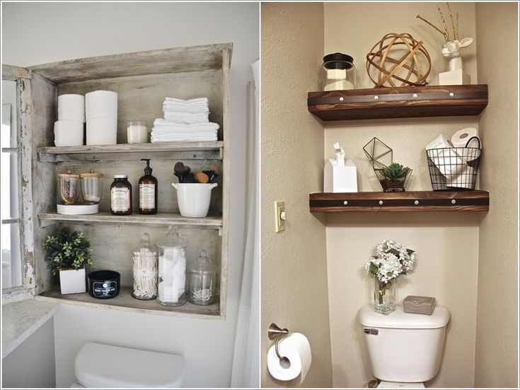 Install A Storage Cabinet Or Shelves Above The Toilet