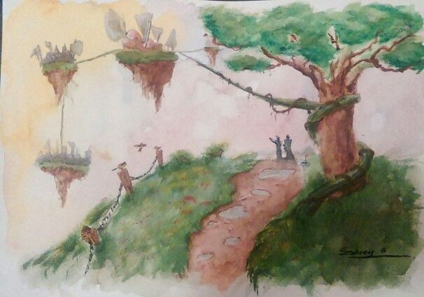 The End - Watercolor