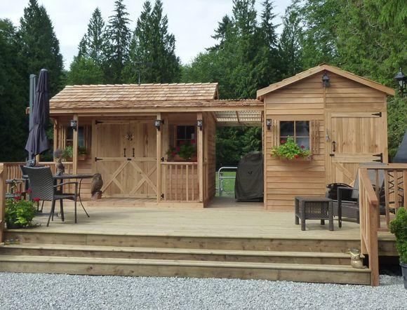 shed Away #tinyhouseblog #shedkits #shedbuildingplans
