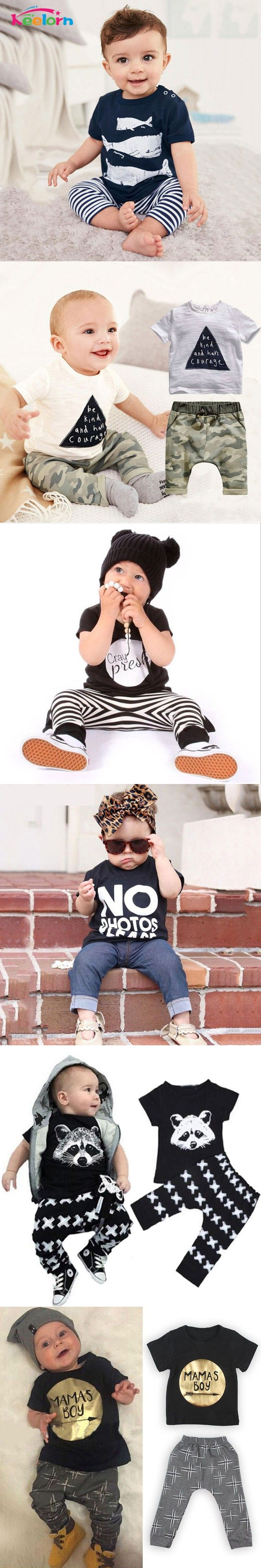 2016 Summer Style Infant Clothes Baby Clothing Sets Three ...
