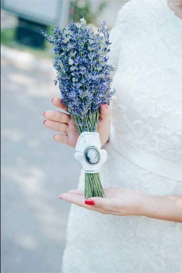Buchet levantica Lavender bouquet Aspiration Events