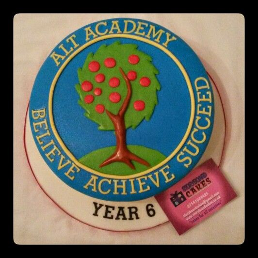 Alt academy primary school logo cake available from https://www.facebook.com/storyboardcakes or www.storyboardcakes.co.uk or follow us on instagram or pinterest  #storyboardcakes #storyboard #birthdaycakes #celebrationcake #designercakes #beautiful #uniquecakes #cupcakes #fun  #yummy  #childernscake #cakes #caketopper #alt #altacademy #altprimary #altschool #school #logo #schoollogo #primaryschool #schoolcake