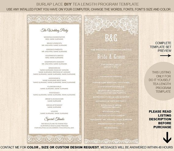 11 best diy wedding programs images on pinterest diy wedding programs bridal invitations and. Black Bedroom Furniture Sets. Home Design Ideas