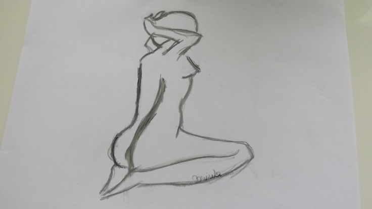 naked woman draw my work