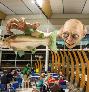 Gollum at Wellington Airport...1.2 tonnes and 13 metres long!