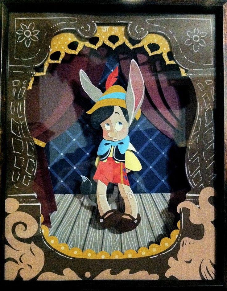 Pinocchio Paper Art by ~justin-mctwisp on deviantART