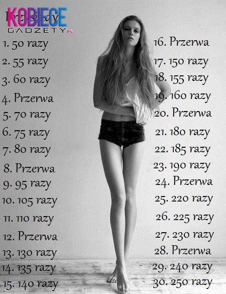 Dzięki temu wyzwaniu, nasze nogi staną się szczupłe w 30 dni...