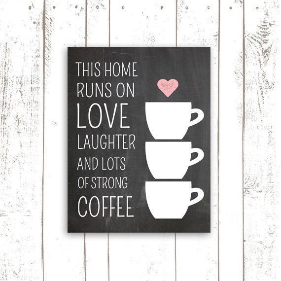 Coffee Art Print Chalkboard Print This Home by MooseberryPrintShop, $18.00