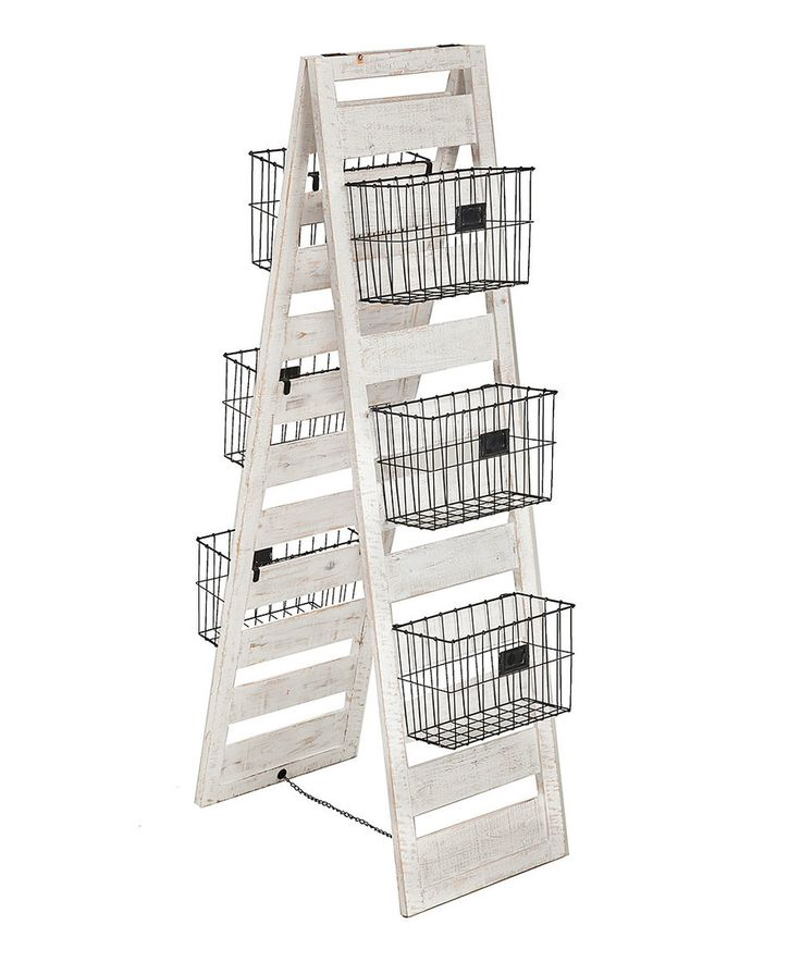 Look at this Double-Sided Wooden Storage Ladder on #zulily today!