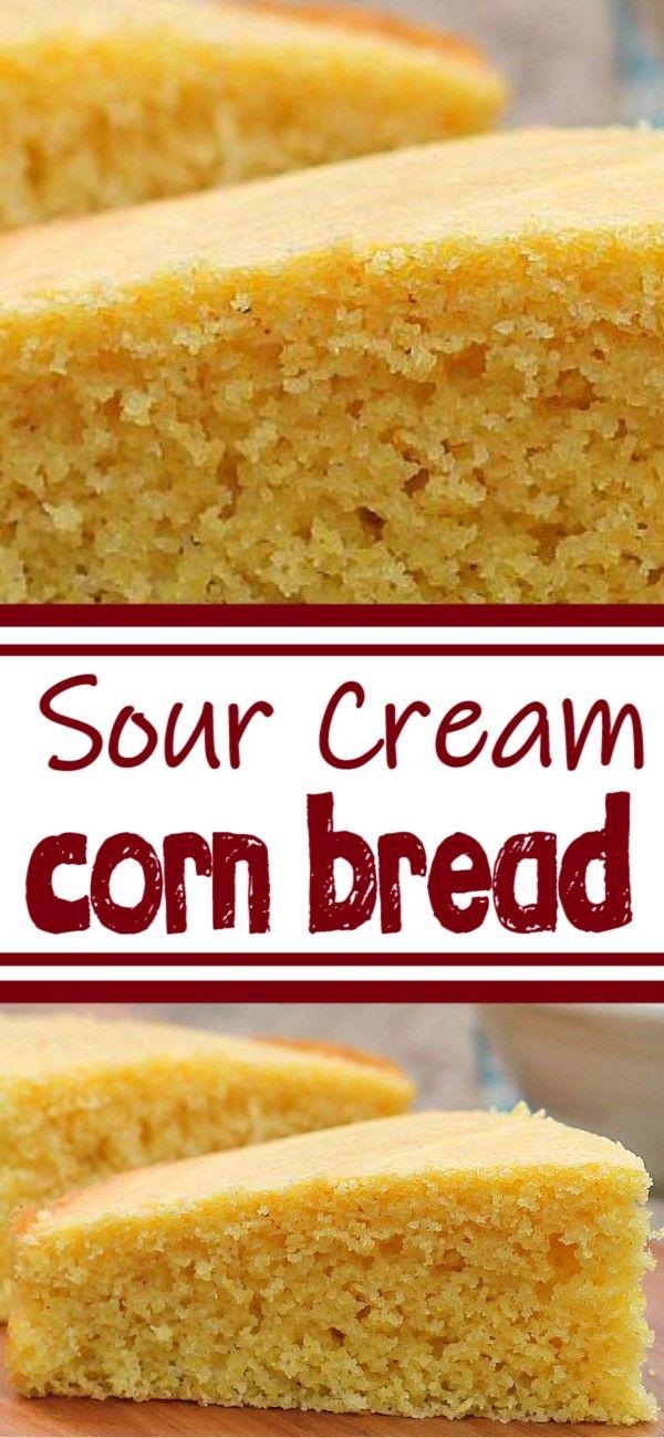 Sour Cream Corn Bread In 2020 Cream Corn Bread Cornbread Recipe Sweet Sour Cream Recipes