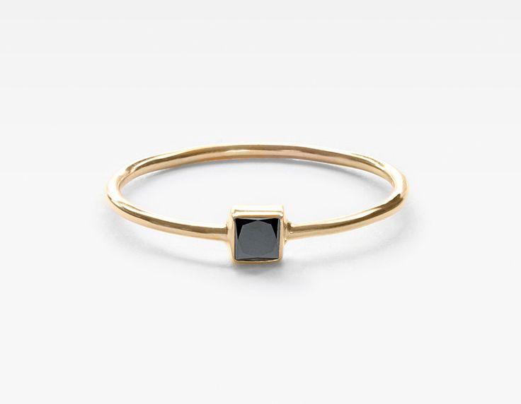 Square Black Diamond Stacker