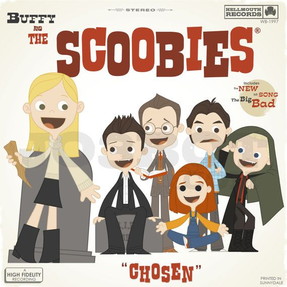 Buffy and the Scoobies album cover... this might have to go in my cube.: Buffy The Vampire Slayer, Folk Band, Joss Whedon, Buffy Angel, Scoobies, Album Cover
