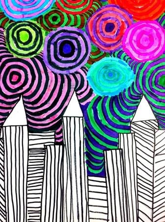 JaGage1's art on Artsonia  Cityscape Art Lesson