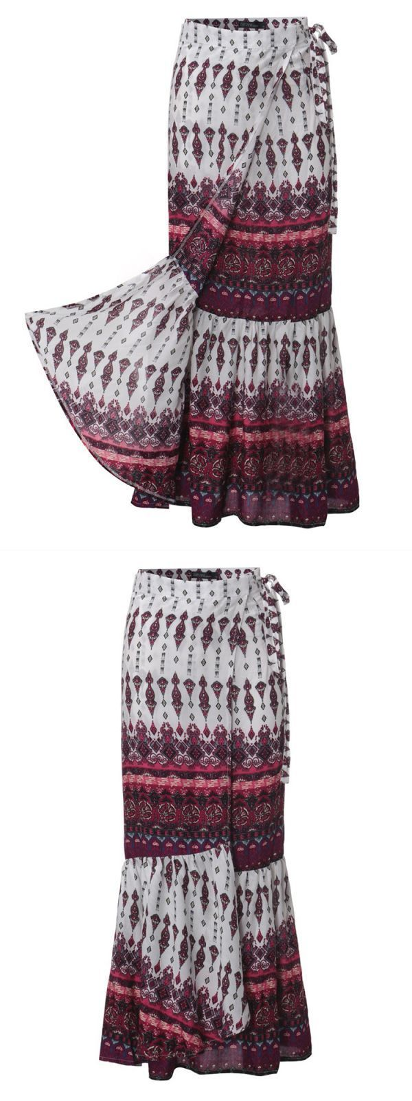 6 panel skirts bohemian women split printed skirts high waist beach wrap long skirts #$5 #skirts #c #amp; #m #skirts #puffball #skirts #80s #skirts #below #the #knee