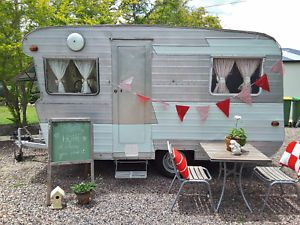 Vintage Caravan Trailer RV For Sale On Ebay Cupcake Food Van Market Camping English Decor
