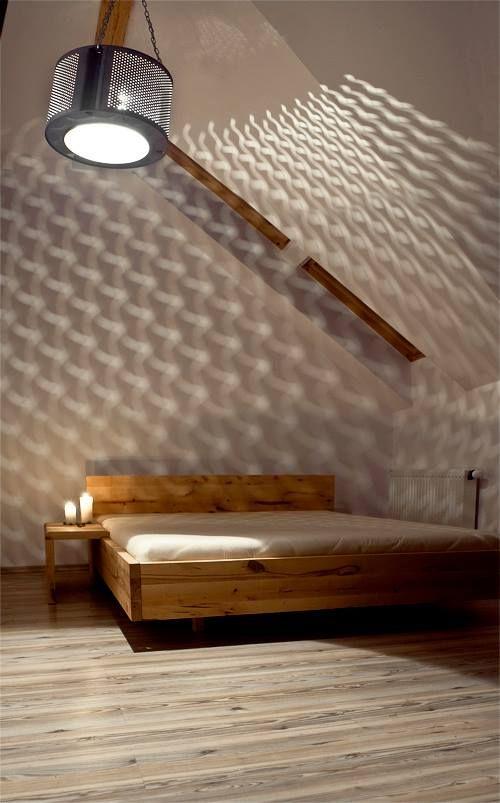 Przytulna sypialnia z lewitującym łóżkiem Mazzivo - harmonia prostych form i naturalnych kolorów. Zobaczcie łóżka z naszej aktualnej kampanii 'w akcji'! http://houzee.pl/kampania/eko-dom