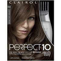 Clairol - Perfect 10 Nice 'n Easy Hair Color in Lightest Cool Brown
