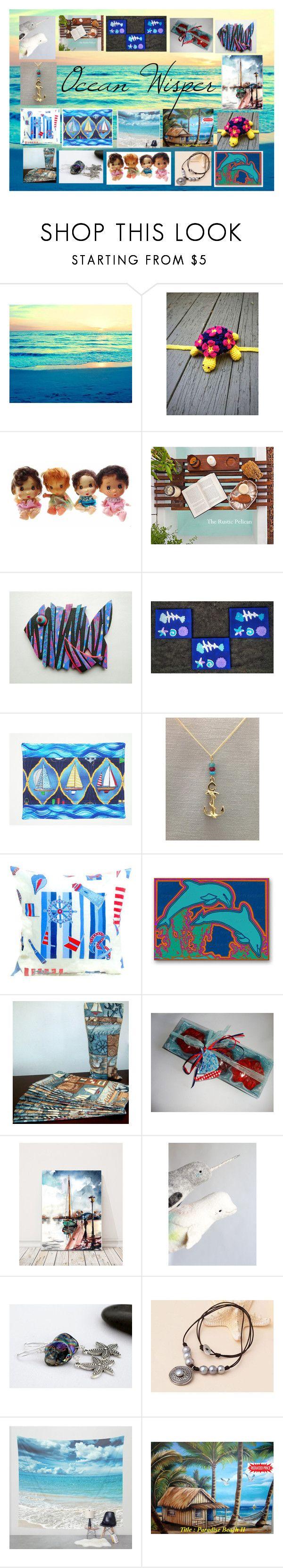 """""""Ocean Wisper: Handmade Marine Gifts"""" by paulinemcewen on Polyvore"""