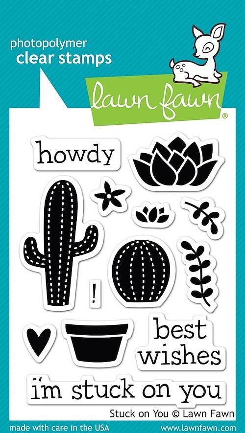 """LAWN FAWN: Stuck on You (3"""" x 4"""" Clear Acrylic Stamp Set)"""