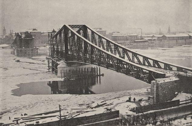 Budapest, December 1895. Franz Joseph bridge.