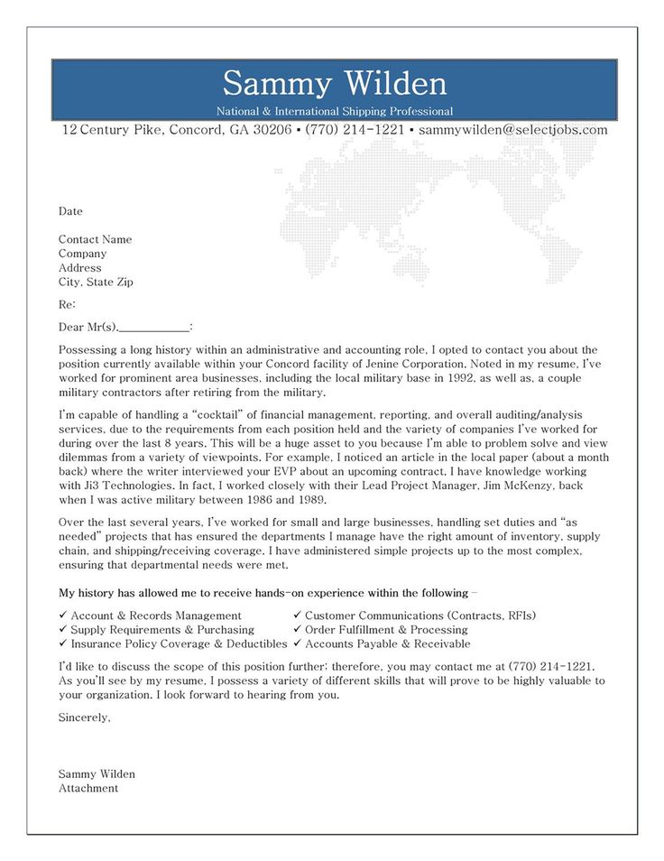 Professional Resume Cover Letter Sample | Sample Resume And Free