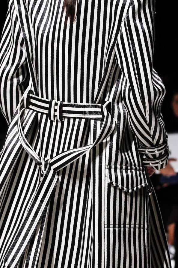 Balmain, Spring 2013 -black and white coat amazing!