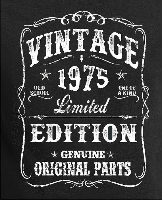 Vintage Birthday Shirt VINTAGE 1975 Shirt Tee for son por BluYeti