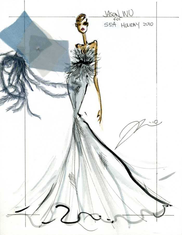 513 best haute illustration images on pinterest fashion for Jason wu fashion designer