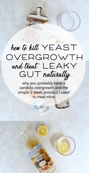how to kill yeast overgrowth and treat leaky gut naturally // candida yeast overgrowth, small intestinal bacterial overgrowth, leaky gut // natural ways to use diet and supplements to treat leaky gut without medication or antibiotics // functional medicin