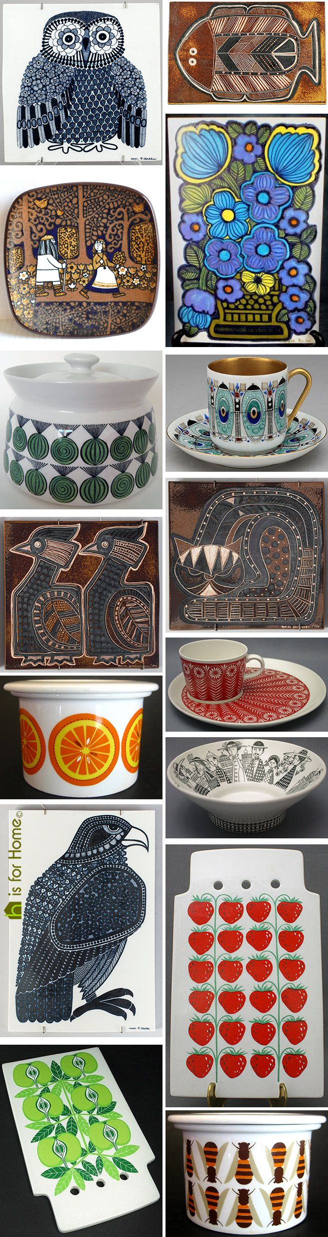 There's such a goldmine of vintage Scandinavian designers from which to choose, we've decided upon yet another this week - Raija Uosikkinen (1923-2004). #ceramics #vintage #pottery #Scandinavian #Finland #Finnish