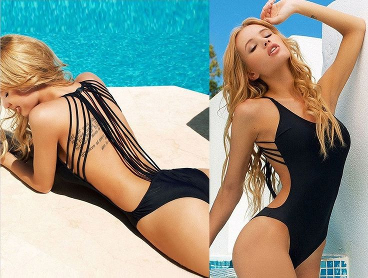 Womens Sexy Triangle One-Piece Monokini Swimsuit