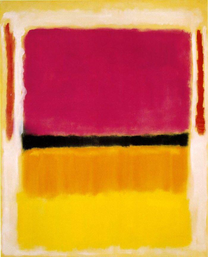 Mark Rothko ~ Violet, Black, Orange, Yellow on White and Red, 1949