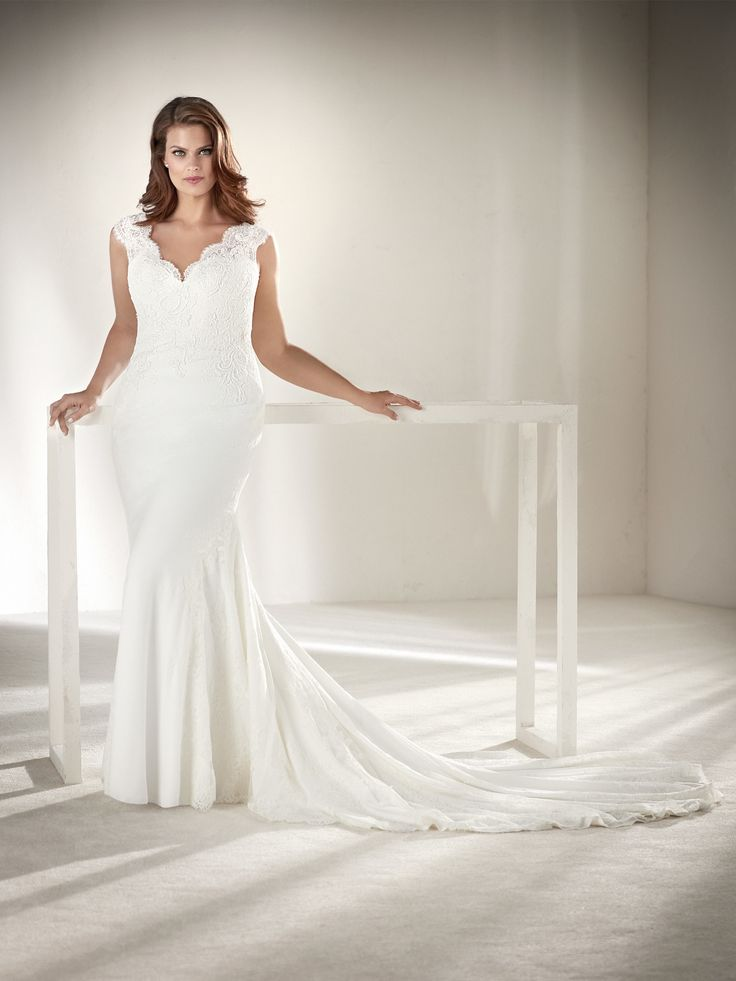 Drusila Plus Size Wedding Dress With Lace On The Back