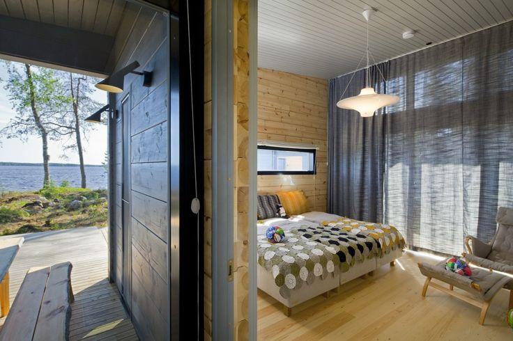 Honka Blockhaus Modell Lokki Schlafzimmer