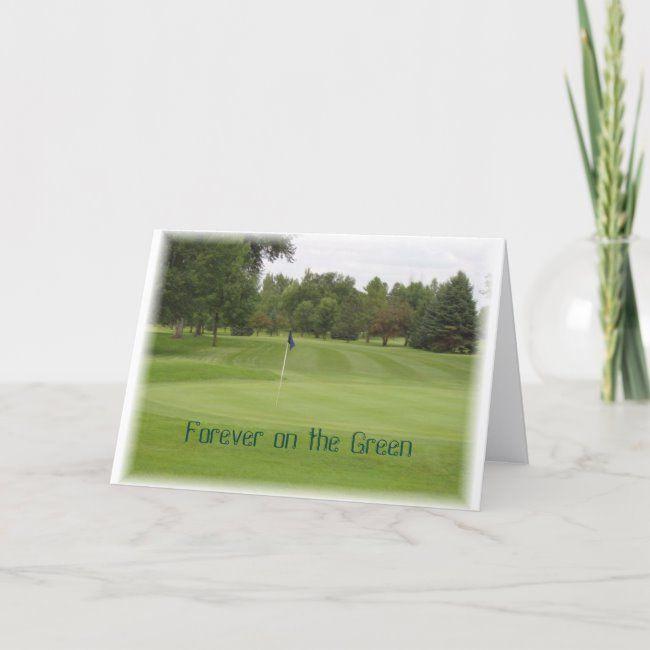 Golf Sympathy Card Zazzle Com Sympathy Cards Funeral Thank You Cards Condolence Card