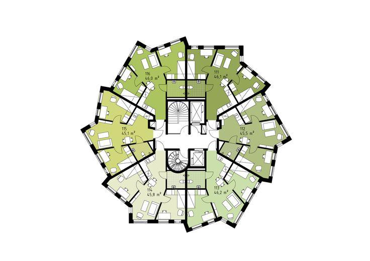 Imagen 20 de 27 de la galería de Vivienda para Estudiantes Helsingkrona Nación  / FOJAB arkitekter. Planta Piso