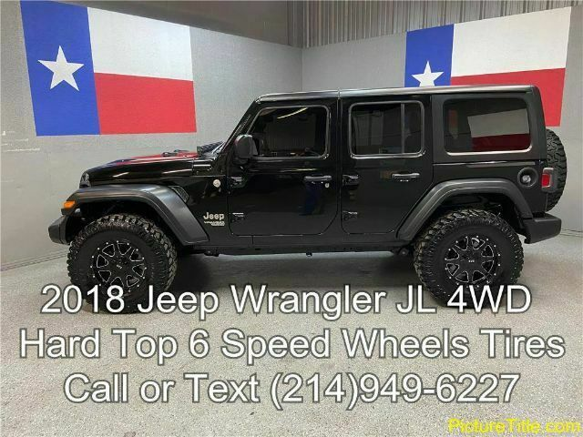 2018 Jeep Wrangler 2018 Wrangler 4wd Jl 6 Speed 3 6l V6 6 Speed Manual Wheels Tires Texas In 2021 Jeep Wrangler Jeep Wrangler For Sale Used Jeep Wrangler