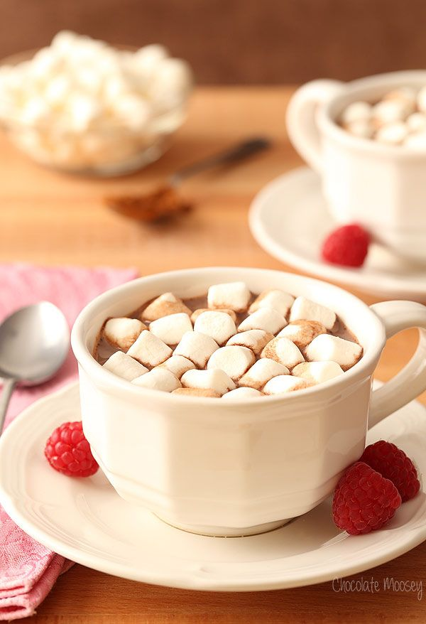 Cuddle up during winter with Raspberry Hot Chocolate from scratch made with fresh raspberries. You can also use frozen raspberries, raspberry jam, or raspberry extract for that chocolate raspberry pairing.