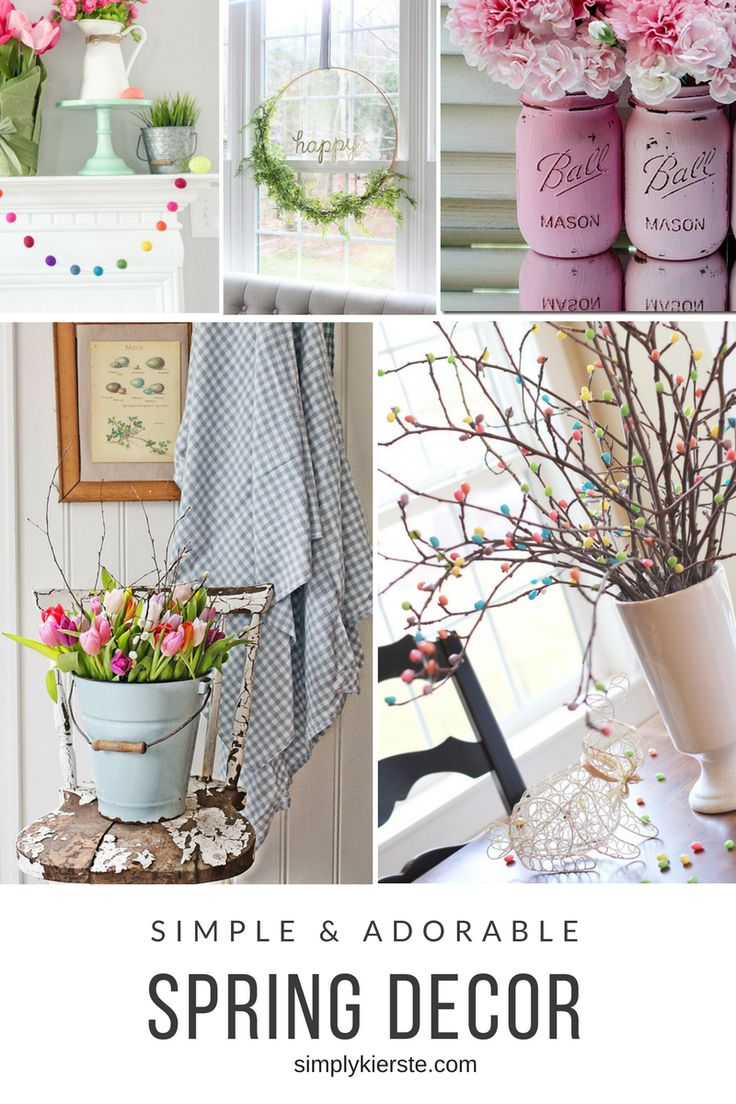 Adorable and simple spring decor ideas---projects that won't take forever to make, but will add charm and spring style to your home!