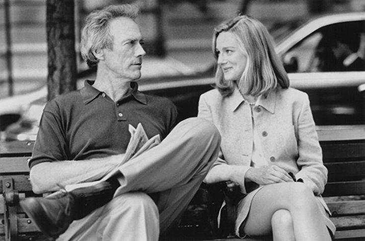 Clint Eastwood and Laura Linney in Absolute Power (1997)