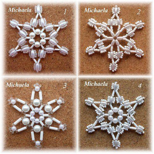vánoční korálkové ozdoby - bílé korálky – sada2 cena za celou sadu, jedná se o 4 ks různých bílých ozdob z korálků, bílá drátovaná hvězda je krásná nejen vánoční dekorace nebo ozdoba, na vánoce si s nimi můžete ozdobit stromeček, věnec, větvičky nebo girlanda, hvězdičky lze pověsit také na záclonu nebo připevnit na dárek, pěkná a kvalitní ruční práce, ...