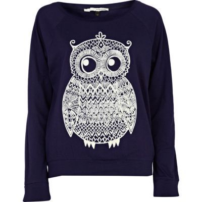 Owl Sweater. Love... I wonder if I make this with lace.... Hmmm, I will try! haha ;)