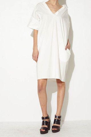 White Shift Dress by Hache   shopheist.com