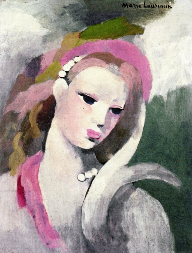 The Athenaeum - Womans Head with Pearls (Marie Laurencin - No dates listed)