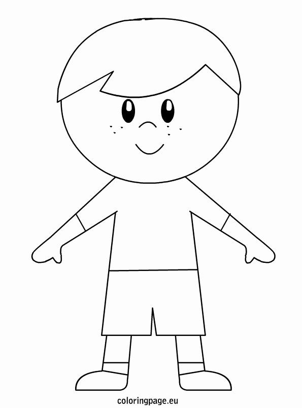 Boy And Girl Coloring Page Awesome Little Boy Coloring Page Boy Coloring Coloring Pages For Boys People Coloring Pages